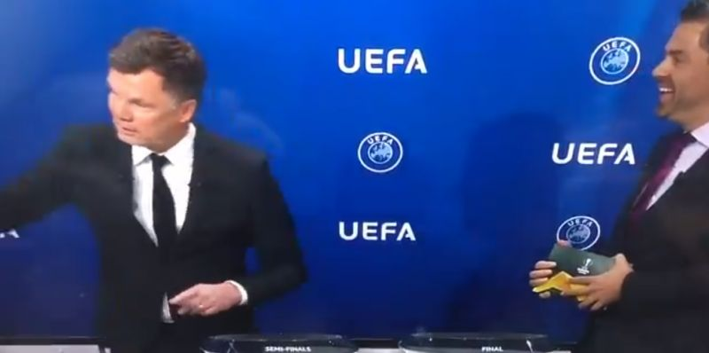 "(Video) Awkwardly funny moment Helmer refers to Europa League as ""cup of losers"""