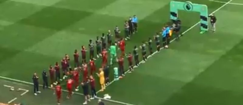 (Video) Liverpool given proper guard of honour by Villa at Anfield after bitter City display