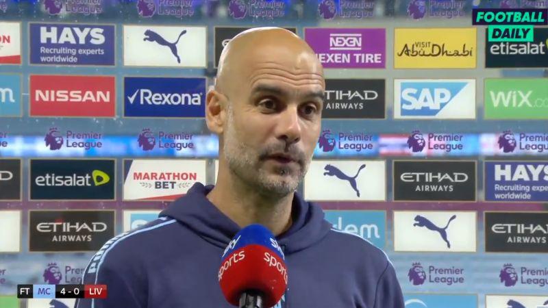 "(Video) Classy Guardiola pays tribute to Klopp: ""He always wants to produce joy"""