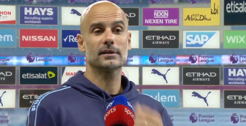 Pep Guardiola talks about Liverpool after Man City lose 2-0 to Spurs