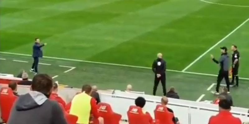 (Video) Hilarious moment Milner laughs at raging Lampard from the Liverpool bench