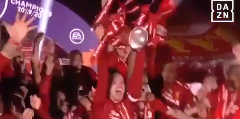(Video) Liverpool's Premier League trophy lift is better with Peter Drury commentary