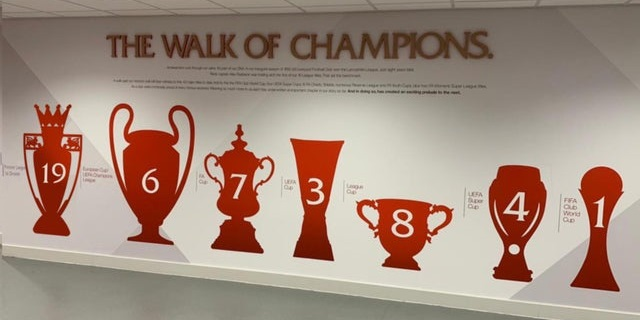 (Images) How 'the walk of champions' wall could look when Liverpool update it with Premier League title triumph