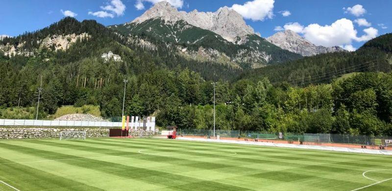 (Photos) Saalfelden Arena looks drop-dead gorgeous as preparations made for Liverpool v. Stuttgart