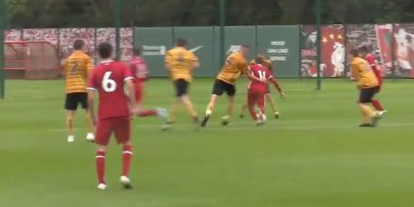 (Video) New Liverpool signing scores on debut with determined finish in 5-0 rout