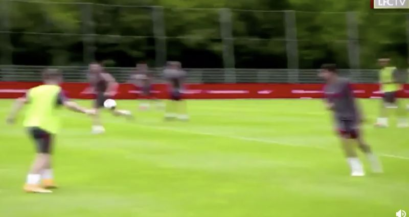 (Video) Milner swears at Salah as Liverpool's pre-season intensity climbs