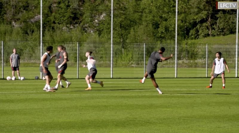 (Video) Van Dijk shows shooting ability in training – but when will Reds see it in a match…