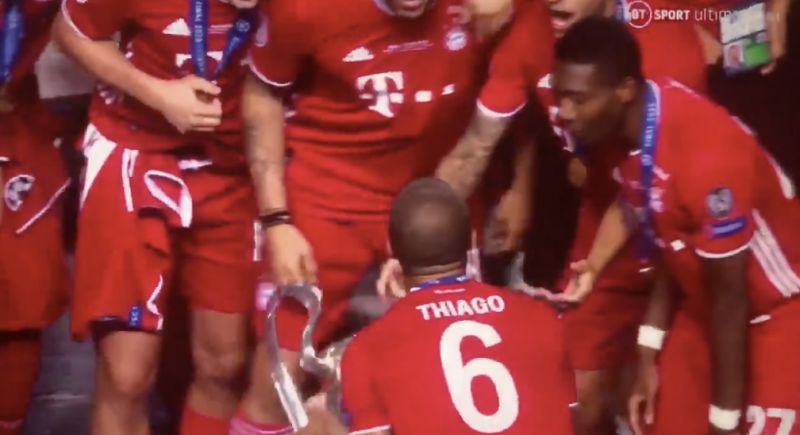 (Video) Thiago does the Hendo-shuffle with Champions League as Liverpool transfer looks increasingly likely