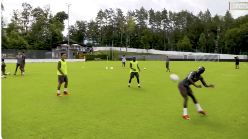 (Video) Jaw-dropping skill school with Keita, Mane & Firmino goes viral – with Sadio the star