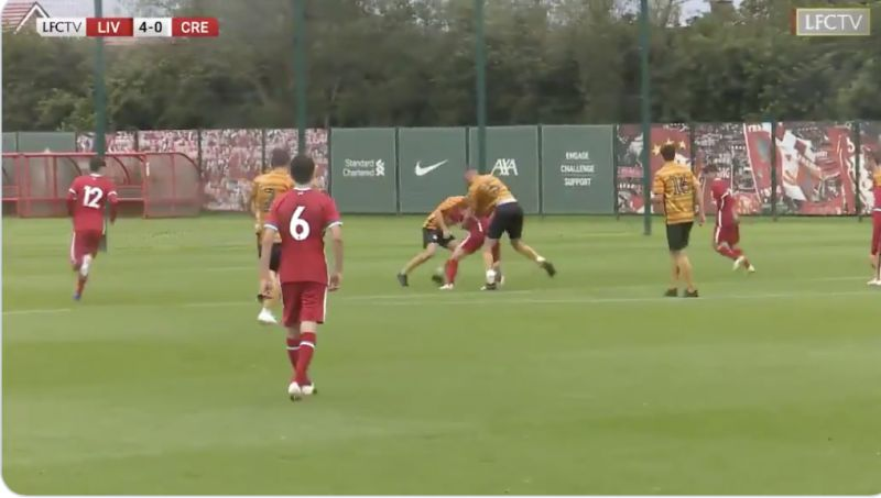 (Video) Liverpool's new Polish signing scores Messi-type dribble goal on U18 debut in 5-0 thrashing
