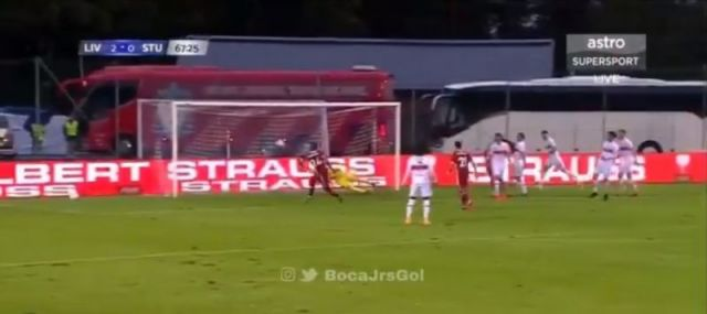 Video Brewster Makes It 3 0 To Lfc V Stuttgart With Poacher S Finish After String Of Passes