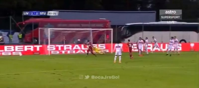 (Video) Brewster makes it 3-0 to LFC v. Stuttgart with poacher's finish after string of passes