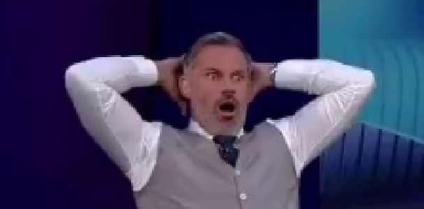 (Video) Carragher's instant reaction to Sterling's howler against Lyon is priceless
