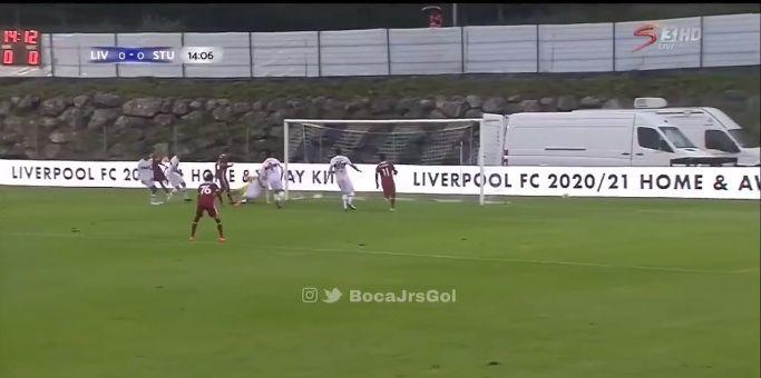 (Video) Jones twists & turns to set up Firmino for first goal in new Nike kit v. Stuttgart