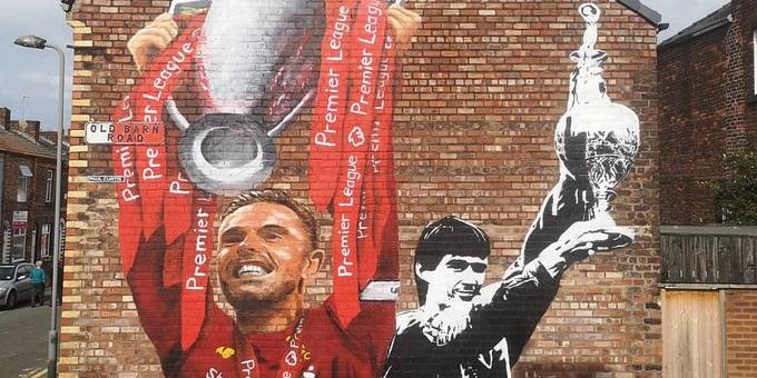 (Photo) Jordan Henderson & Alan Hansen mural pops up in Liverpool – and it's a belter