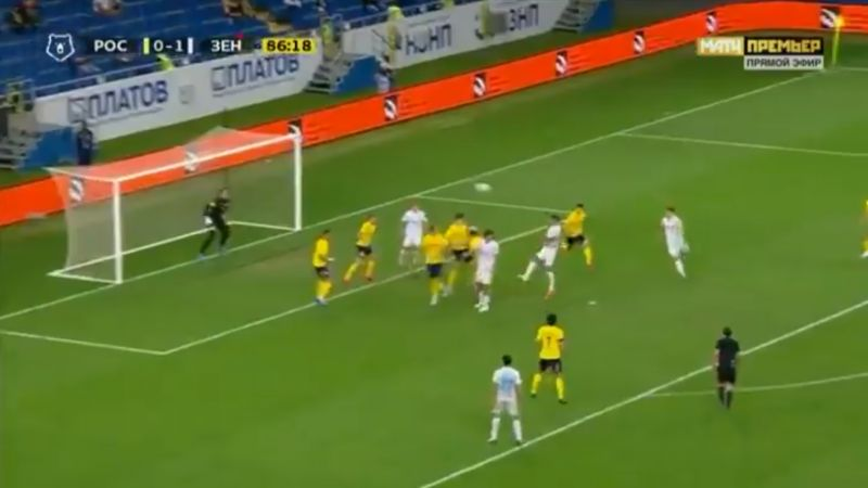 (Video) Lovren bags first goal for Zenit with brilliant looping header in just his second game