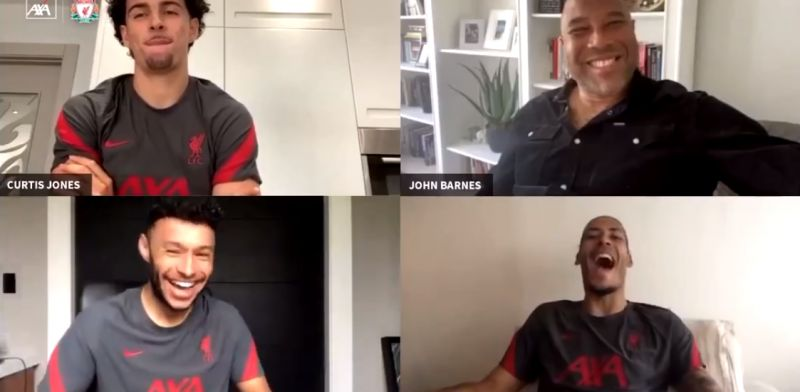 (Video) Ox has van Dijk in hysterics with cheeky one-liner about Klopp's team selection