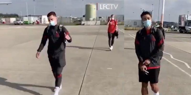 (Videos) Liverpool stars jet off to Austria for pre-season training ahead of Arsenal clash