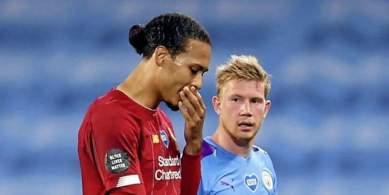 Virgil van Dijk's classy response as Kevin De Bruyne wins PFA Player of the Year award