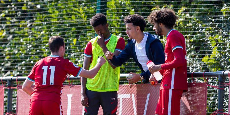 (Photo) Curtis Jones spotted showing his support for Liverpool U23s at the Academy