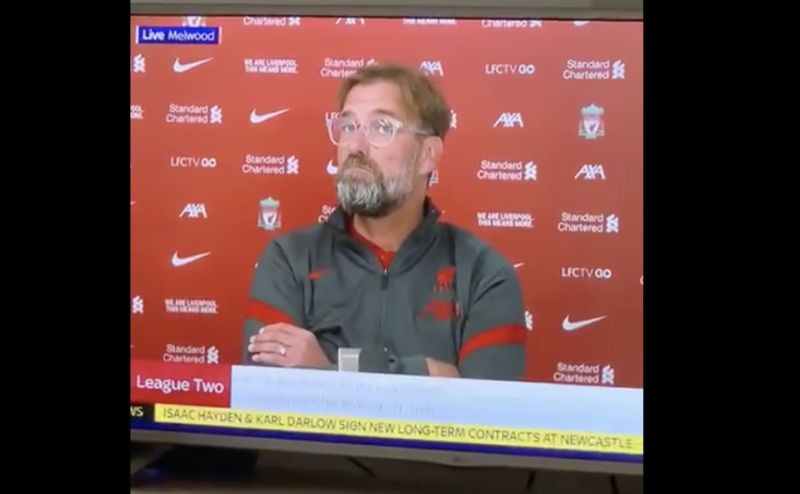 (Video) Klopp's reaction utterly hilarious as Jim White presents on Sky Sports with Jurgen still on the line