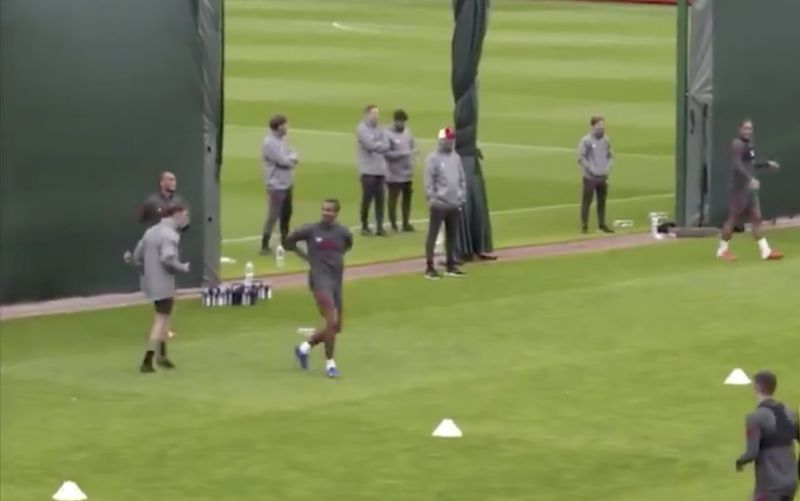 (Video) Joel Matip rips Brewster in training and Liverpool fans love it