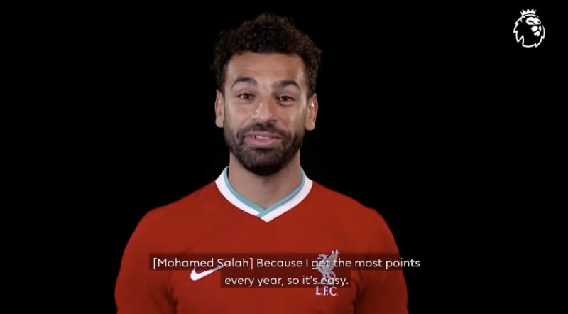 (Video) Mo Salah thinks he should be Fantasy Football's no.1 pick – and he's spot on