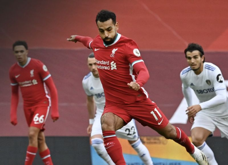 (Video) Mo Salah broke a record with his goal v Leeds United today