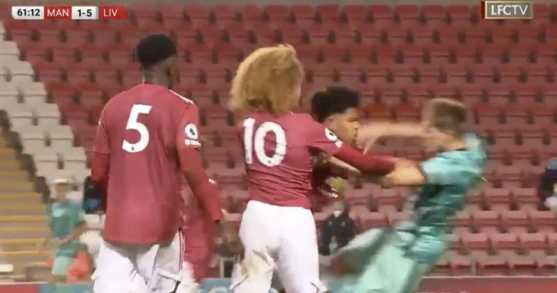 (Video) LFC's Leighton Clarkson sent off for horror tackle as Manchester United push also sees them down to 10 in eight-goal classic