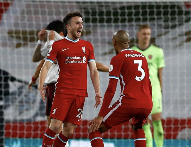 Diogo Jota was buzzing on Twitter after his PL debut goal – and Wijnaldum followed him in