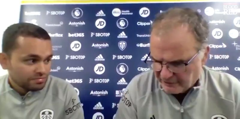 """(Video) Bielsa: """"Anfield is only Anfield if it's full"""" – Leeds boss rues fans' absence ahead of Liverpool clash"""