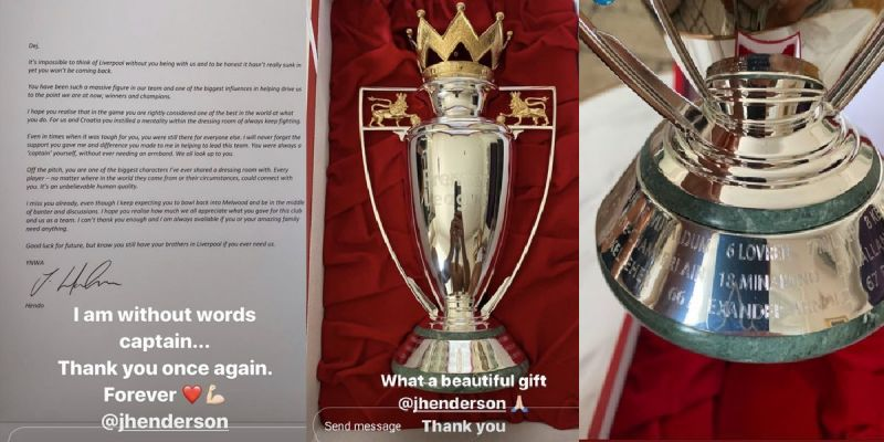 (Photos) Lovren shares beautiful parting gift sent to him by LFC captain Henderson
