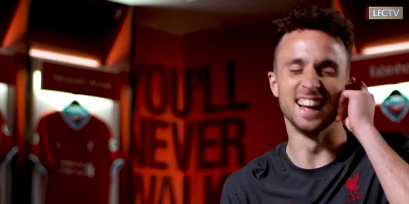 (Video) LFC TV joke with Jota that his son is going to grow up to be a Scouser
