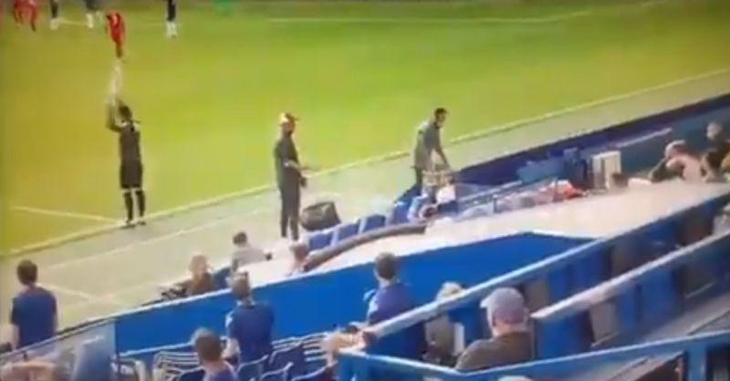 (Video) Klopp kicks off on Liverpool bench for celebrating Chelsea sending off