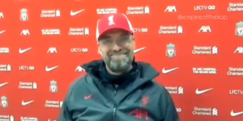 (Video) Klopp grinning ear-to-ear as reporter waxes lyrical about Salah is everything