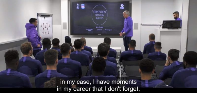 "(Video) Mourinho says playing Liverpool isn't a ""normal thing"" in new Spurs docu-series"
