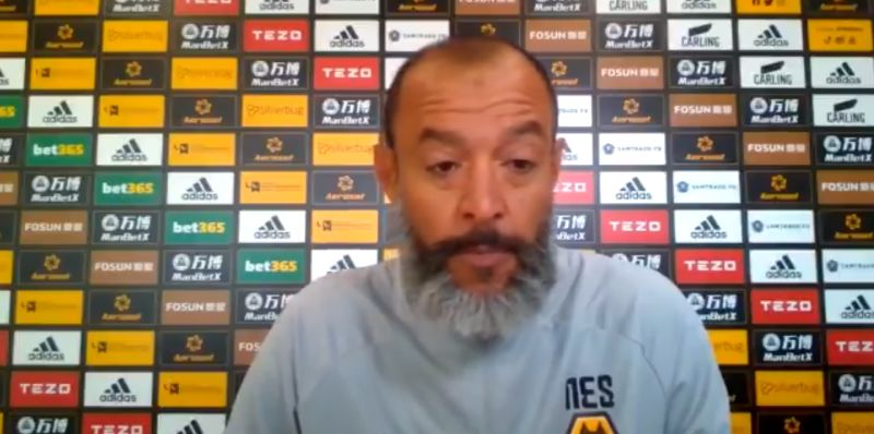 (Video) What Nuno said about Jota hours before Liverpool transfer was confirmed