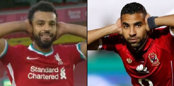 (Photos) Beautiful reason behind Mo Salah's classy goal celebration after hat-trick