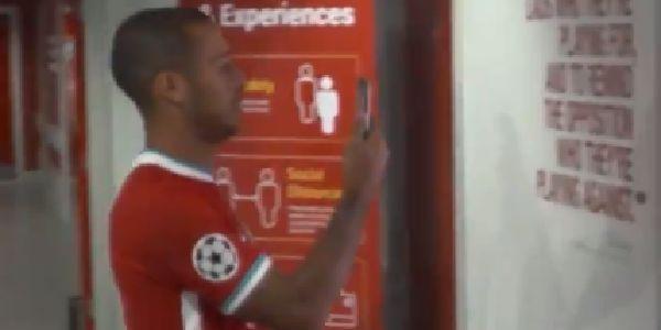 (Video) Thiago shakes phone in excitement after arriving at Anfield to sign for Liverpool