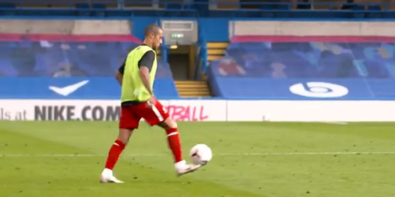 (Video) Thiago shows off silky skills at Stamford Bridge in unseen footage