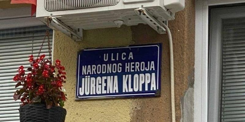 (Photo) LFC fan spots street named after Jurgen Klopp in Bosnia and Herzegovina