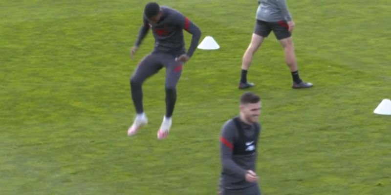 (Video) Gini mocks Robbo for getting outpaced by Gomez & Firmino in training
