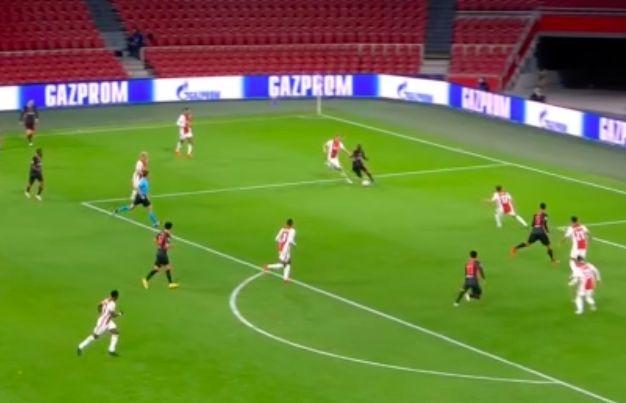 (Video) Liverpool score crazy goal v Ajax as dancing Sadio Mane forces O.G