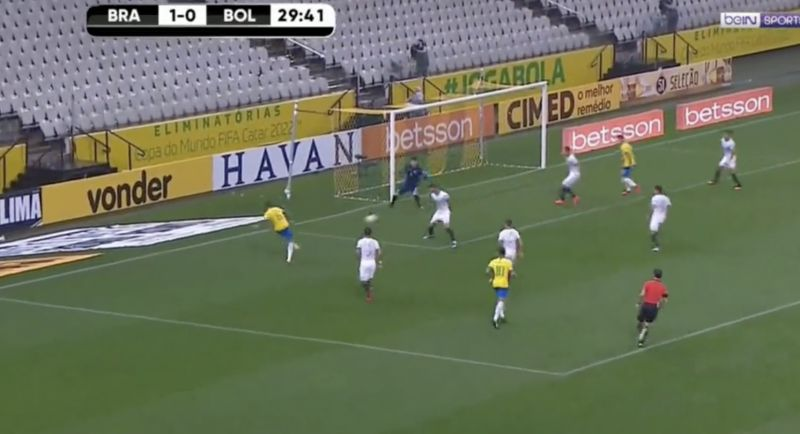 (Video) Firmino's first goal for Brazil v Bolivia shows real no.9 instincts