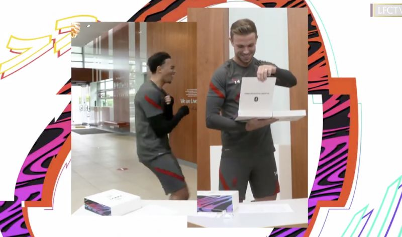 (Video) 'Can I just leave this here?' Henderson not happy with FIFA 21 ratings card as Trent laughs at his pace
