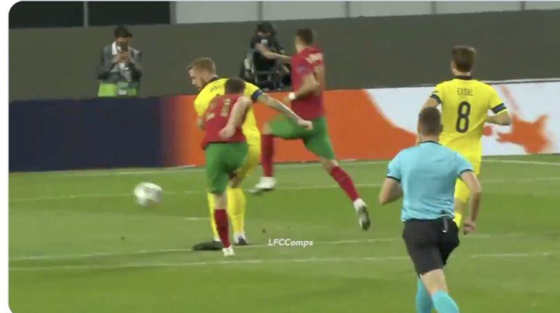 (Video) Diogo Jota's unreal highlights v Sweden; including the reverse-Arjen Robben goal
