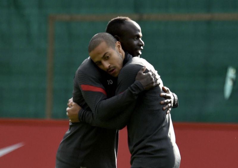 (Video) Reds will love Thiago and Sadio Mane hugging clip from Melwood