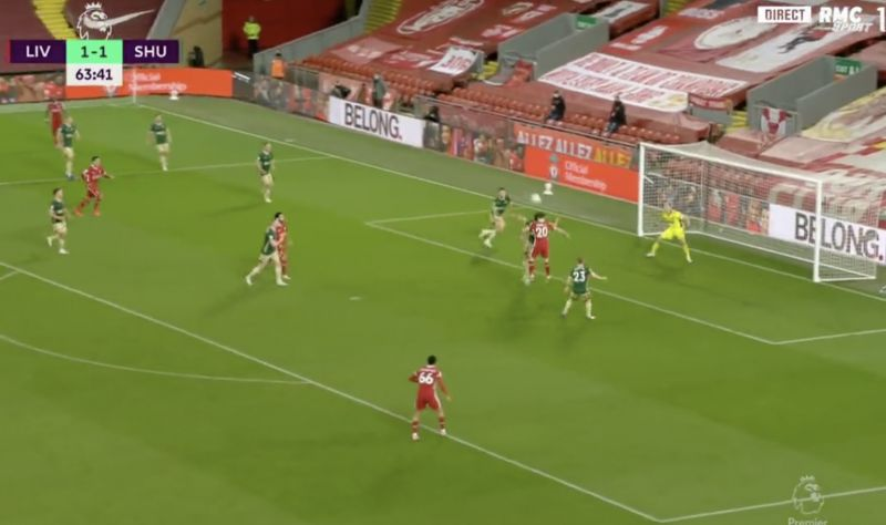 (Video) Diogo Jota's lovely header gives Liverpool 2-1 lead v Sheffield United