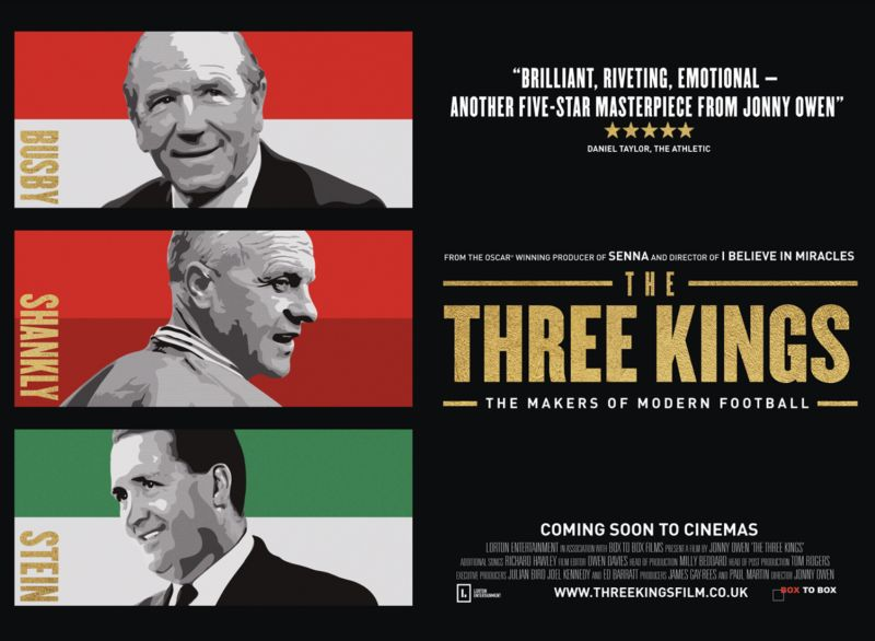 The Three Kings: Five-Star Masterpiece from Maradona and Senna makers, about Shanks, Busby and Stein, set for release