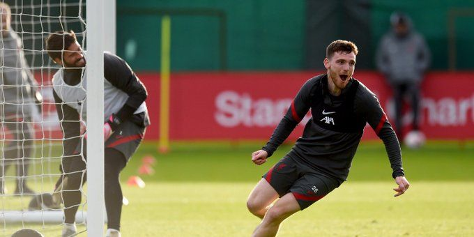 Liverpool fans will love what Robbo told Alisson after scoring past him in training on his birthday